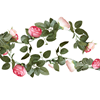 Rosa blomgirlang