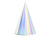 Partyhattar holografisk, 6-pack
