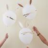 DIY ballongset kanin/hare, 5-pack