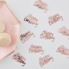 Konfetti Happy Birthday rosé