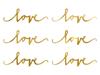 Bordsdekoration/konfetti Love Guld, 6 -pack
