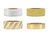 Washi tejp guld/silver mönster, 4 st.
