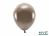 Eko ballonger metallic brun 26 cm, 10 st.
