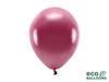Eko ballonger metallic vinröd 26 cm, 10 st.