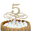 Tårtdekoration 5 år/bordsnummer i trä 5
