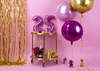 Folieballong rosa rund