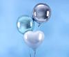 Folieballong blå rund