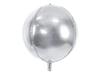 Folieballong silver rund