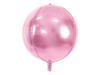 Folieballong ljusrosa rund