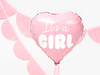 Folieballong hjärta It´s a girl
