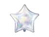 Folieballong regnbågsskimrande silver stjärna 1 st.