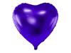 Folieballong hjärta Mörklila