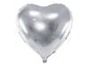 Folieballong hjärta silver