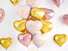 Folieballong hjärta guld