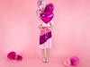 Folieballong hjärta rosa