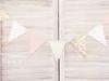 Girlang mix rosa/guld/vit