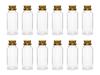 Glasflaskor små med kork 12-pack