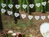 Girlang vita spetshjärtan
