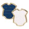 Tallrikar Baby guld/rosa/blå , 8-pack