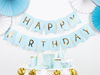 Girlang happy birthday ljusblå