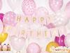 Girlang Happy Birthday rosa 1,75cm