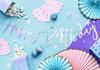 Banner Happy Birthday Holografisk