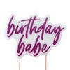 Tårtljus Birthday babe