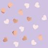 Konfetti hjärtan rosé och rosa