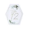 Bordsnummer 1-12 Geometrisk