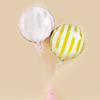 Folieballong Randiga rosa/guld/vit, 2-pack