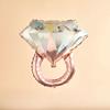 Folieballong ring/diamantring rosé