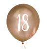 Ballonger Guld 18år, 5st
