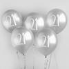 Ballonger silver 21år, 5st