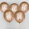 Ballonger Guld 60år, 5st
