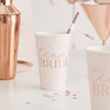 "Stora pappersmuggar ""Team Bride rosé"", 8-pack"
