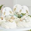 Cupcake topper Påsk hare/kanin, 6 st.