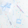 Present tags baby blå, 3-pack