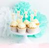 Cupcake toppers/coktailpinnar kanin, 6-pack