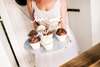 Cupcake toppers Love silver, 6-pack