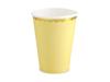 Pappersmuggar gula med guldkant, 6-pack