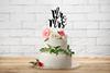 Bröllopsdekor till Tårta Svart