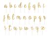 Tårtdekoration alfabetet a-z i guld