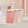 Pappersmugg Rosa Ombre, 8-pack