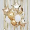 Ballongbukett Guld, 12-pack
