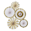 Dekorationsrosetter Guld/vit, 5st