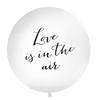 "Ballong ""Love is in the air"" svart text, 1 m."