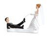 Tårtdekoration rolig bröllopsfigur