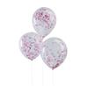 Konfetti ballong Rosa, 5-pack