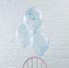 Konfetti ballong blå, 5-pack