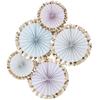 Dekorationsrosetter Pastell, 5st